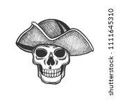 skull of pirate isolated sketch ...   Shutterstock .eps vector #1111645310