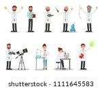 flat vector set of people...   Shutterstock .eps vector #1111645583