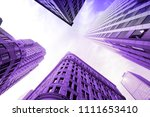 boston buildings low angle view ... | Shutterstock . vector #1111653410