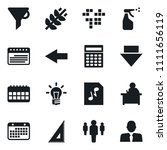 set of simple vector isolated...