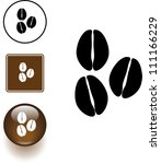 coffee beans symbol sign and... | Shutterstock .eps vector #111166229