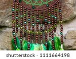 dream catcher with feathers... | Shutterstock . vector #1111664198