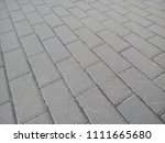 rectangular paving stones. gray ... | Shutterstock . vector #1111665680