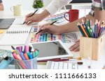 team of creative designers... | Shutterstock . vector #1111666133