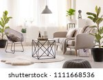 real photo of a black table... | Shutterstock . vector #1111668536