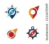 compass symbol logo template... | Shutterstock .eps vector #1111670549