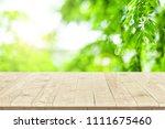 white wooden planks wall.... | Shutterstock . vector #1111675460