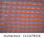 gray wall. orange ornament.... | Shutterstock . vector #1111678418