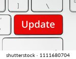 red button with update word on... | Shutterstock . vector #1111680704