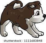 vector illustration of a dog.... | Shutterstock .eps vector #1111683848
