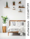 bright  botanic bedroom... | Shutterstock . vector #1111687199