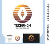 network technology rhombus... | Shutterstock .eps vector #1111688168