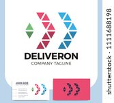 abstract business delivery or... | Shutterstock .eps vector #1111688198
