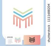 media letter m vector logo in a ... | Shutterstock .eps vector #1111688204