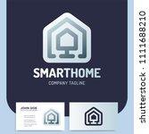 smart or technology home logo... | Shutterstock .eps vector #1111688210