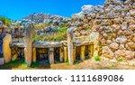 ggantija neolithic temple at...   Shutterstock . vector #1111689086