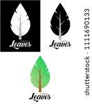 the green leaves | Shutterstock . vector #1111690133