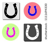 horseshoe. simple flat vector...