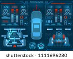 car service. scanning....   Shutterstock . vector #1111696280