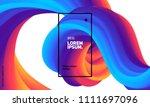 trendy geometric background. 3d ...   Shutterstock .eps vector #1111697096