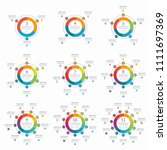 set of infographic circles with ... | Shutterstock .eps vector #1111697369