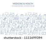 vector medicine and health... | Shutterstock .eps vector #1111699394