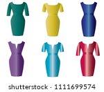 woman dress beautiful | Shutterstock .eps vector #1111699574
