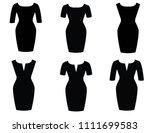 woman dress beautiful   Shutterstock .eps vector #1111699583