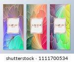 design templates for flyers ... | Shutterstock .eps vector #1111700534