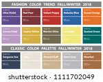 fashion color trend fall winter ... | Shutterstock .eps vector #1111702049