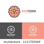 simple brain and mind logo... | Shutterstock .eps vector #1111703369