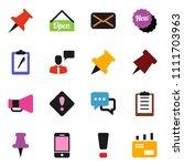 solid vector ixon set   paper... | Shutterstock .eps vector #1111703963