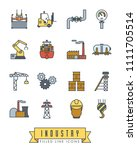 collection of industry themed... | Shutterstock .eps vector #1111705514