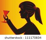silhouette girl | Shutterstock . vector #111170834