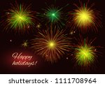 celebration sparkling radiant... | Shutterstock .eps vector #1111708964