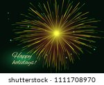 sparkling radiant golden green... | Shutterstock .eps vector #1111708970