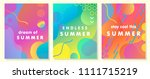 unique artistic summer cards... | Shutterstock .eps vector #1111715219