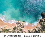 aerial view of tropical sandy...   Shutterstock . vector #1111715459