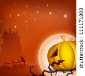 halloween moon night background ... | Shutterstock .eps vector #111171803