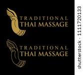 logo design  traditional thai... | Shutterstock .eps vector #1111720133