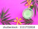 natural herbal soothing gel... | Shutterstock . vector #1111722818