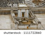 model of the second temple... | Shutterstock . vector #1111722860