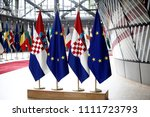the flag of the european union... | Shutterstock . vector #1111723793