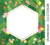 geometric botanical vector... | Shutterstock .eps vector #1111725638