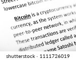 bitcoin explanation or... | Shutterstock . vector #1111726019
