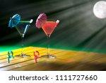 holiday romance. romantic... | Shutterstock . vector #1111727660