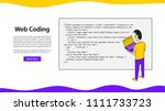web coding landing page vector...