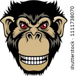 cool monkey for t shirt and... | Shutterstock .eps vector #1111738070