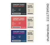 ticket concert invitation.... | Shutterstock .eps vector #1111739540