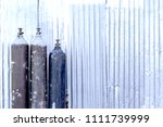 steel tank filled with carbon... | Shutterstock . vector #1111739999